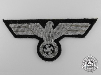 A Tunic Removed German Panzer Officer's Breast Eagle