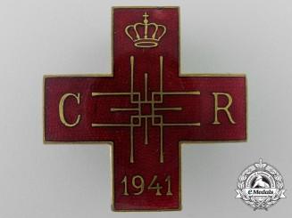 Romania, Kingdom. A Red Cross Merit Decoration Badge 1941
