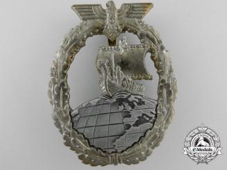 A Kriegsmarine Auxiliary Cruiser Badge