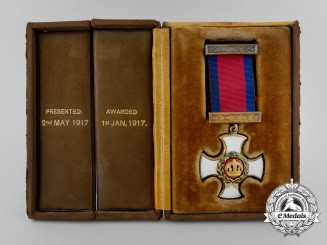 A George V Distinguished Service Order with Presentation Case
