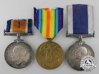 A First War Medal Group to H.M.S. Woolwich, Royal Navy