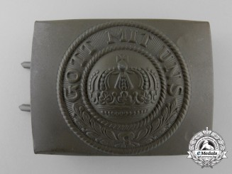 A Near Mint German Imperial Army (Reichsheer) Enlisted Man's/NCO's Belt Buckle