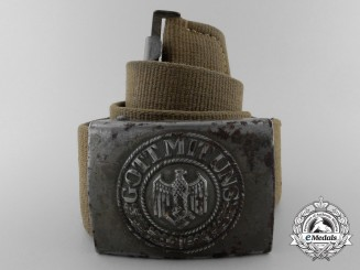 A German Afrika Korps Army (Heer) Enlisted Man's Belt with Buckle