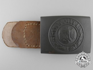 A German Army (Heer) Enlisted Man's Belt Buckle by Berg & Nolte