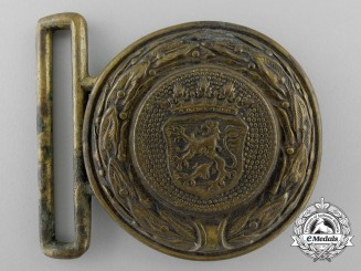 A Free State of Hesse Fire Defence Service Officer's Belt Buckle; Published