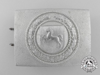 Germany, Civil. A Brunswick Fire Defence Service Enlisted Man's Belt Buckle
