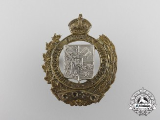 A Second War University of Ottawa Canadian Officer Training Corps (COTC) Cap Badge