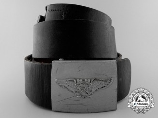 A Second Pattern Air Raid Protection League Belt & Buckle by Richard Sieper & Söhne