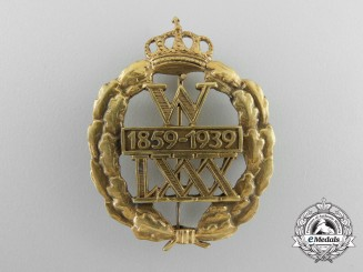 An 80th Birthday of Wilhelm II Commemorative Badge 1859-1939