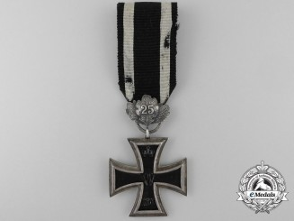 An  Iron Cross 2nd Class 1870 with Twenty-Five Year Oak Leaves Clasp