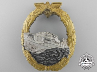 Germany, Kriegsmarine. An E-Boat Badge, Type I, by Georg Schwerin