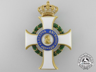 A Saxon Order of Albrecht (Albrechts-Orden); Officer's Cross in Gold