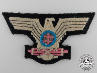 A Scarce Slovakian Hlinka Guards NCO's Visor Cap Eagle