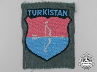A German Army Turkistan Volunteers Sleeve Shield (Turkistan Landeschilde)