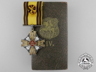 Lithuania. An Order of Grand Duke Gediminas, 4th Class Officer, by Huguenin Frères & Co, c.1940