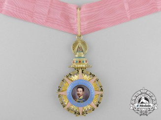 Thailand, Kingdom. A Most Illustrious Order of Chula Chom Klao in Gold,  Grand Cross Badge