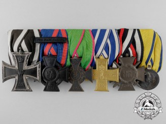 A German Imperial & Swedish Household Service Medal Bar by Godet