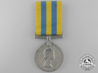 A Korea Medal to Sergeant A.F.J. Bugler; Royal Army Service Corps