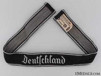 """Waffen-SS """"Deutschland"""" Officer's Cufftitle"""