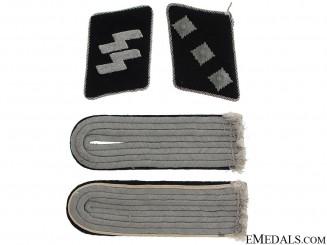 Waffen-SS, lot of Insignia Infantry Untersturmführer
