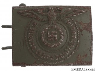 Waffen SS EM/NCO's Steel Belt Buckle by RODO