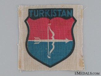 Waffen SS Turkistan Units Volunteer Sleeve Shield