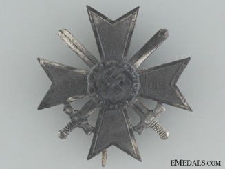 War Merit Cross First Class with Swords by W. Deumer