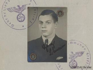 Wehrpass of Obergefreiten Lobmann; Anti Partisan Badge in Silver