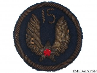 WII USAAF 15th Air Force Sleeve Insignia