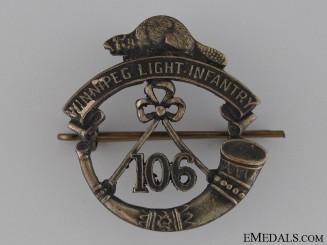 WWI 106th Winnipeg Light Infantry Cap Badge