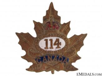 WWI 114th Battalion Sweetheart Pin