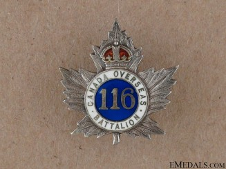 WWI 116th Ontario County Battalion Sweetheart Pin