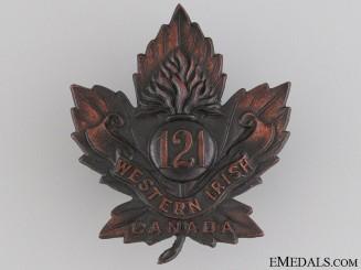 WWI 121st Infantry Battalion Cap Badge CEF