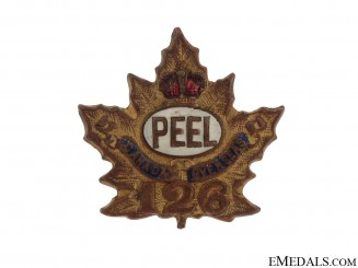 "WWI 126th Infantry Battalion ""Peel Battalion"" Sweetheart Pin"