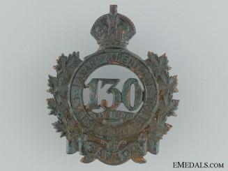 WWI 130th Infantry Battalion Cap Badge CEF