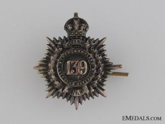WWI 139th Infantry Battalion Collar Tab CEF