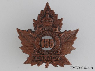 WWI 155th Infantry Battalion Collar Tab CEF