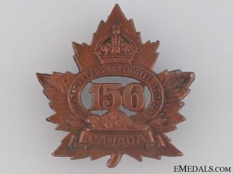 WWI 156th Infantry Battalion Cap Badge CEF