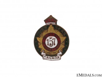 WWI 157th Infantry Battalion Simcoe Foresters Pin