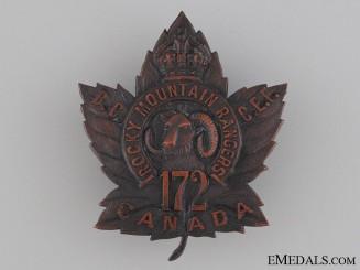 WWI 172nd Infantry Battalion Cap Badge CEF