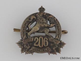 WWI 206th Infantry Battalion Collar Tab CEF