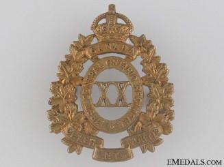 WWI 20th Infantry Battalion Cap Badge CEF