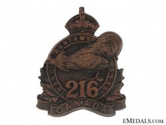 "WWI 216th Infantry Battalion ""Toronto Bantams"" Cap Badge, CEF"