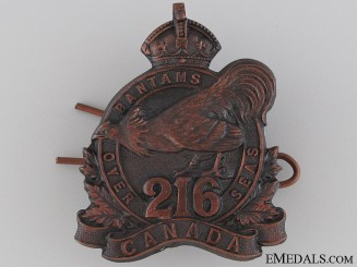 WWI 216th Infantry Battalion Cap Badge CEF