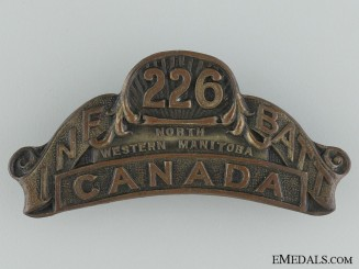 "WWI 226th Infantry Battalion ""Men of the North"" Shoulder Title"