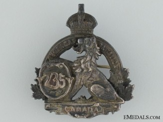 Canada. A 235th Infantry Battalion Officer's Collar Badge CEF