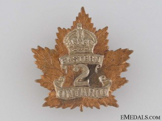 WWI 2nd Infantry Battalion Cap Badge CEF