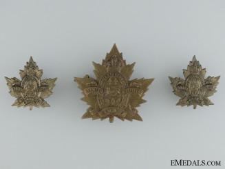 WWI 2nd Quebec Regiment Cap Badge & Collar Insignia CEF