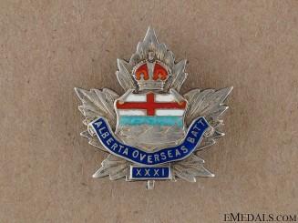 WWI 31st Alberta Regiment Sweetheart Pin CEF