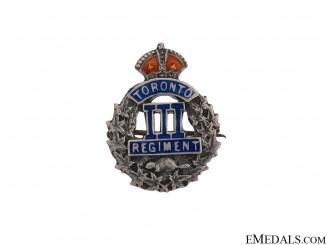 "WWI 3rd Infantry Battalion ""Toronto Regiment"" Pin"